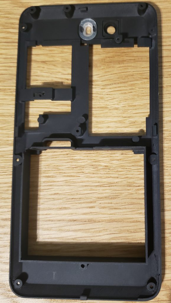 Dogwood internal plastic frame to align the battery and M.2 cards. Includes M.2 hold down clips.